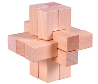 Challenging 9 Part IQ Wooden Brain Teaser Puzzles Game For Adults Children
