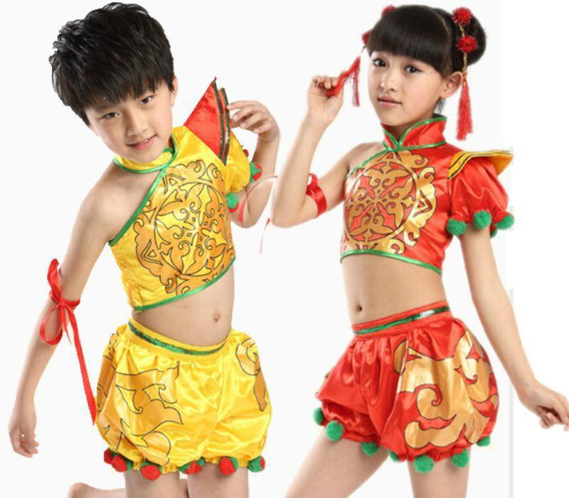 234677e8c8606 الطفل يانغكو ملابس رقص فتاة السنة الصينية الجديدة مرحلة الرقص الملابس جديد  الصينية الشعبية فستان رقص الاطفال الملابس الوطنية 89
