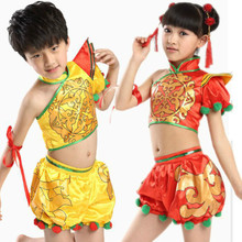 7b78ccb18 Child Yangko Dance Costume Girl Chinese New Year Stage Dance Clothing New  Chinese Folk Dance Dress · 6 Colors Available