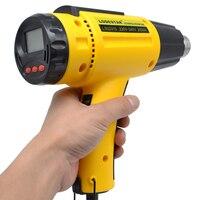 2000 W AC220 Elettrico Digitale Pistola Ad Aria Calda di Calore a Temperatura controllata IC SMD Strumenti di Saldatura di Qualità Regolabile + 1 ugello