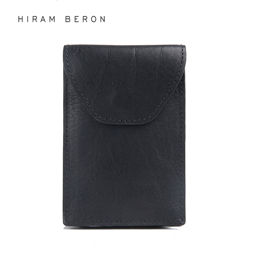 Hiram Beron Leather Business Card Holder Men Vegetable Tanned ...