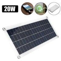 Multifunctional DIY Solar Panel 20W Solar Panel Solar System DC/USB Charging USB Solar Panel Dual USB Polysilicon