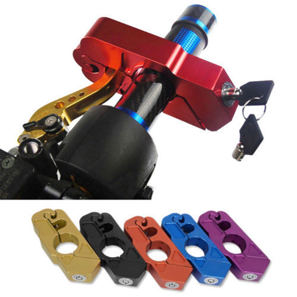 Dragonpad CNC Motorcycle Handlebar Lock Brake Lever Throttle Grip Security Lock Anti Theft Protection Motor Safety Supplies