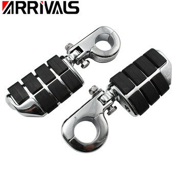 """Motorcycle 1.25"""" 32mm Highway Bar Foot Pegs Footrest With Mount For Harley Sportster Softail Suzuki Yamaha Honda GoldWing GL1500"""