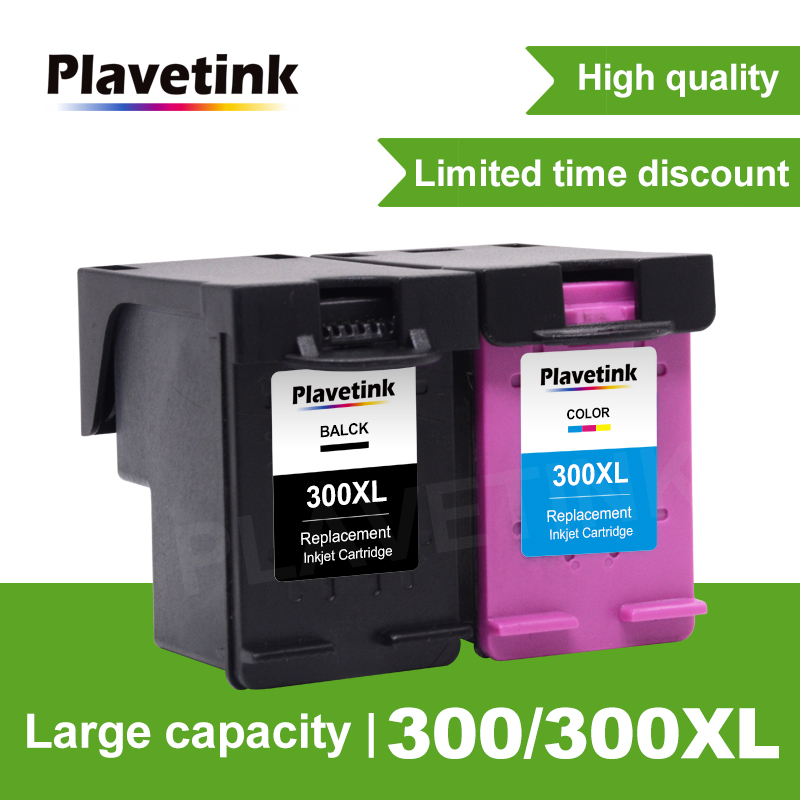Plavetink 300 Remanufactured Ink Cartridges Replacement for HP 300XL for Deskjet D1660 D2560 D2660 D5560 F2420 F2480 printer ink