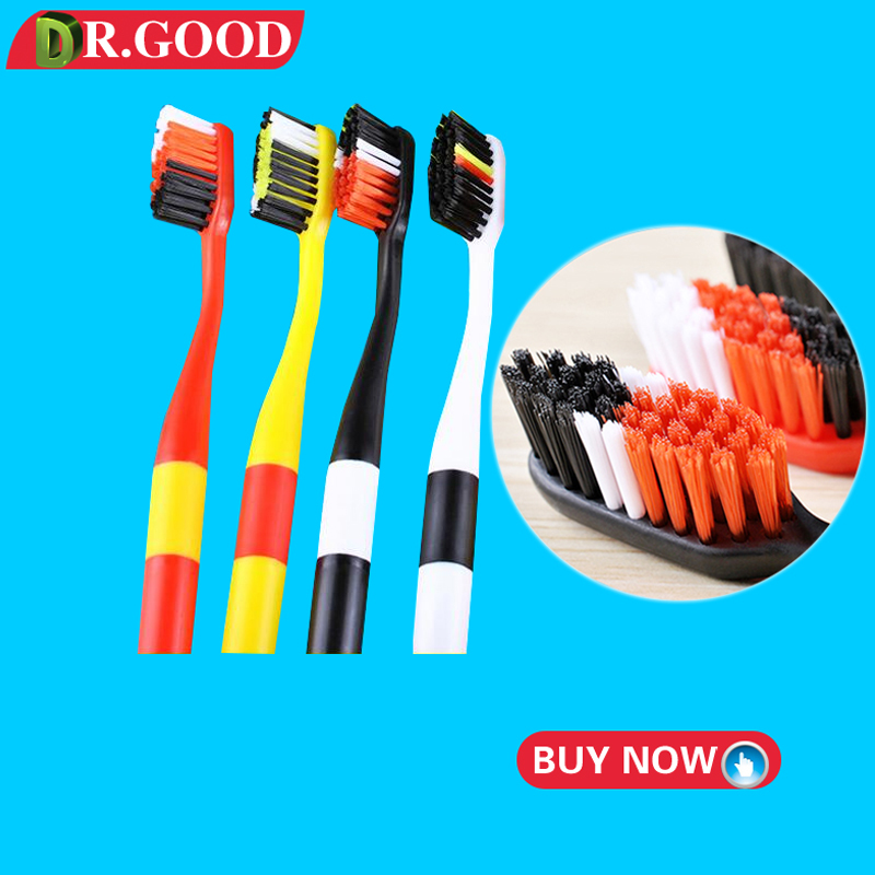 DR.GOOD 4Pcs/Pack Bamboo Charcoal Travel Toothbrush adults Tooth Brush eco friendly Soft Bristle for tongue cleaner