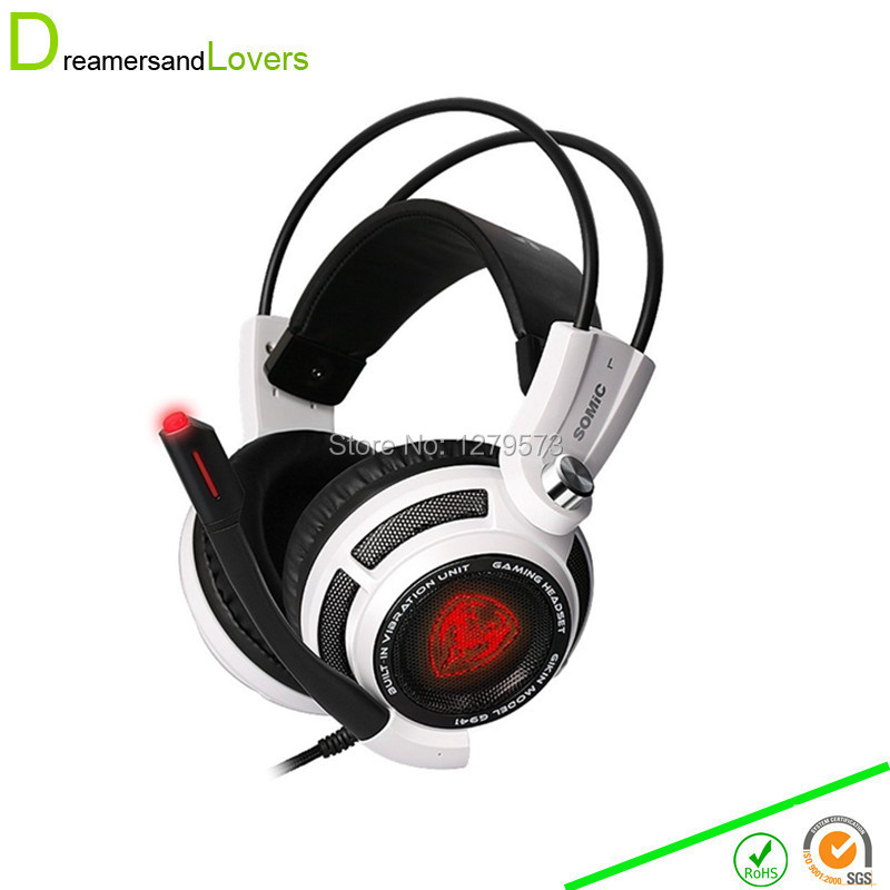 7.1 Surround Sound Stereo Gaming Headset with Mic, LED Lighting, Volume Control and Smart Vibration for PC, Notebook, Computer usb 7 1 surround sound vibration stereo led gaming headsets headphone with mic for pc games
