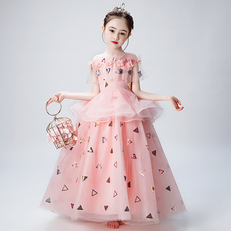 2019 Perfect Applique Beading   Flower   Children's Elegant   Dresses   for   Girls     Dresses   for the Communion Ceremony