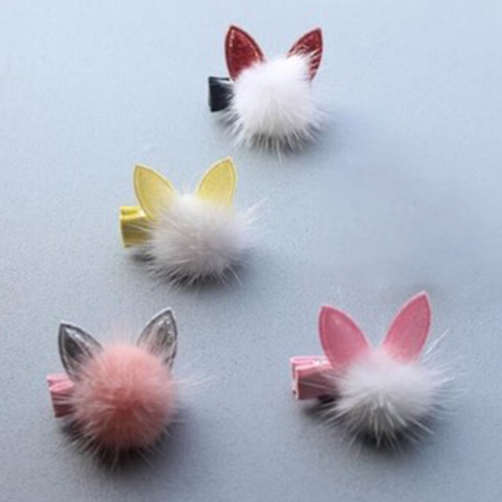 1 PCS Lovely Rabbit Ear Hair Ball Baby Hairpins Kids Hair Clips Princess Barrette Children Headwear Girls Hair Accessories1 PCS Lovely Rabbit Ear Hair Ball Baby Hairpins Kids Hair Clips Princess Barrette Children Headwear Girls Hair Accessories