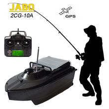 JABO-2CG-10A High Speed 300M Fish Finder Wireless RC Carp Bait Boat Night Sonar Detection GPS Water Depth & Temperature Display