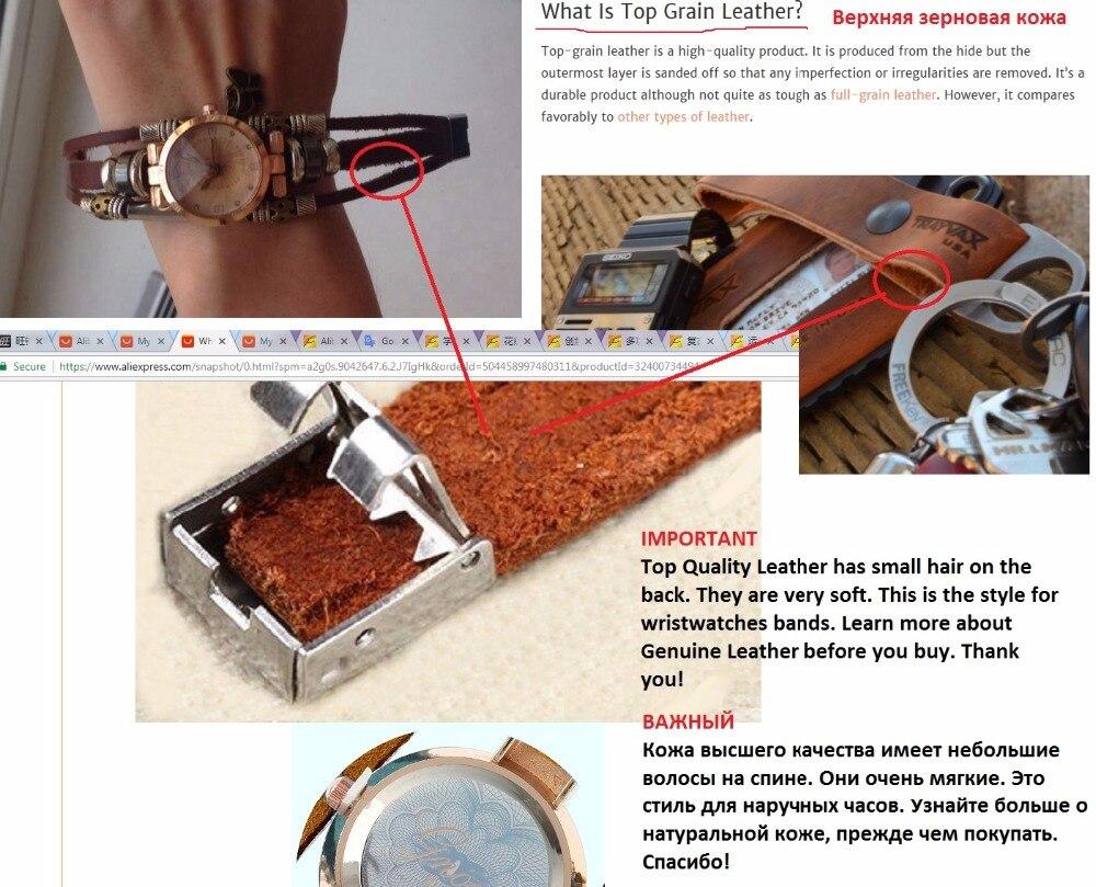 ΝΕΟ Γνήσιο Δερμάτινο ρολόι γυναικών - Γυναικεία ρολόγια - Φωτογραφία 2