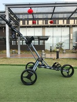 2018 Playeagle Folding Three Wheel Golf Trolley Good Quality Aluminum Alloy Material Folding Into Small Convenient Easy Carrying