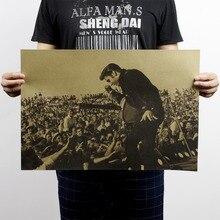 Ностальгический Винтажный Классический плакат с рок-звездой Элвисом Пресли для украшения дома, школы, офиса, художественные журналы, ретро плакаты и принты