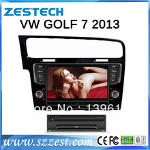 Free Shipping!ZESTECH 2013 new double din 7 Inch Car DVD Player For Volkswagen VW Golf 7 DVD GPS Radio Bluetooth Touch Screen 3g