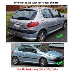Image 4 - Voor Achter Gegoten Auto Spatlappen Voor Peugeot 206 Hatchback Hatch 1998 2012 Spatlappen Splash Guards Mud Flap Spatborden spatbord
