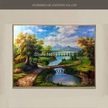 Handmade Europe Landscape Oil Painting On Canvas Classical Landscape Painting for Home Decor Wall Artwork Handpainted Pictures