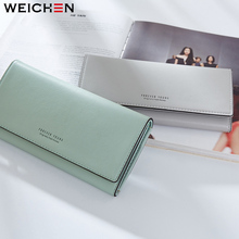 2018 Brand Latest Soft Leather Long Women Wallet