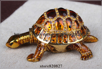 цена на Great Gifts Turtle Big Trinket Box Turtles Tortoise Hinged Trinket Box Pewter Turtle Ring Keepsake Box  14*11*5.5 CM (L*W*H)