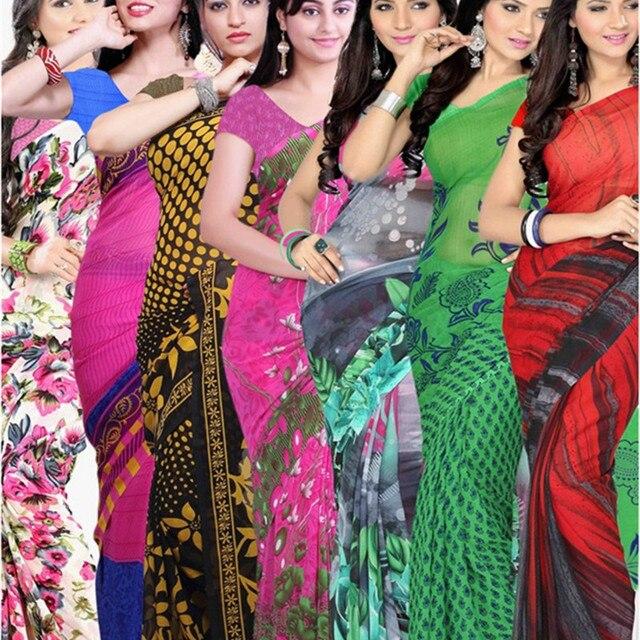 54fcfe07045 Индия Одежда элегантное сари качества Шифон Сари платье с топ и юбка  размеры S