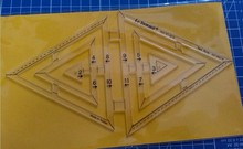 DIY Tools Nähen Teile Lineal Patchwork Regeln Quilten Regeln Doppeldreiecks Regel Twin Herrscher