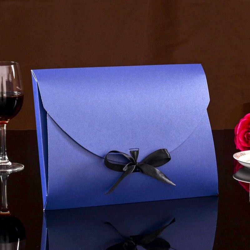 Envelope Shape Silk Scarf Packaging Box Large Kraft Paper Box White Black Blue Color Gift Boxes