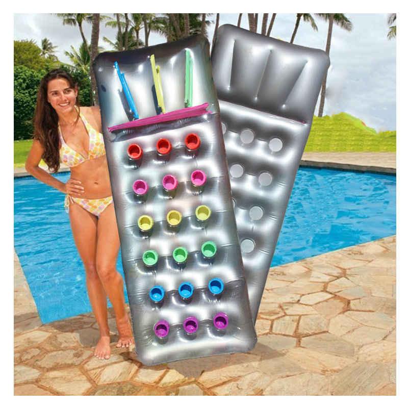 Надувной матрас стул плавающая кровать 18 отверстий с подушкой Lounge ПВХ складная кровать летние пляжные игрушки для бассейна плот воздушный матрас