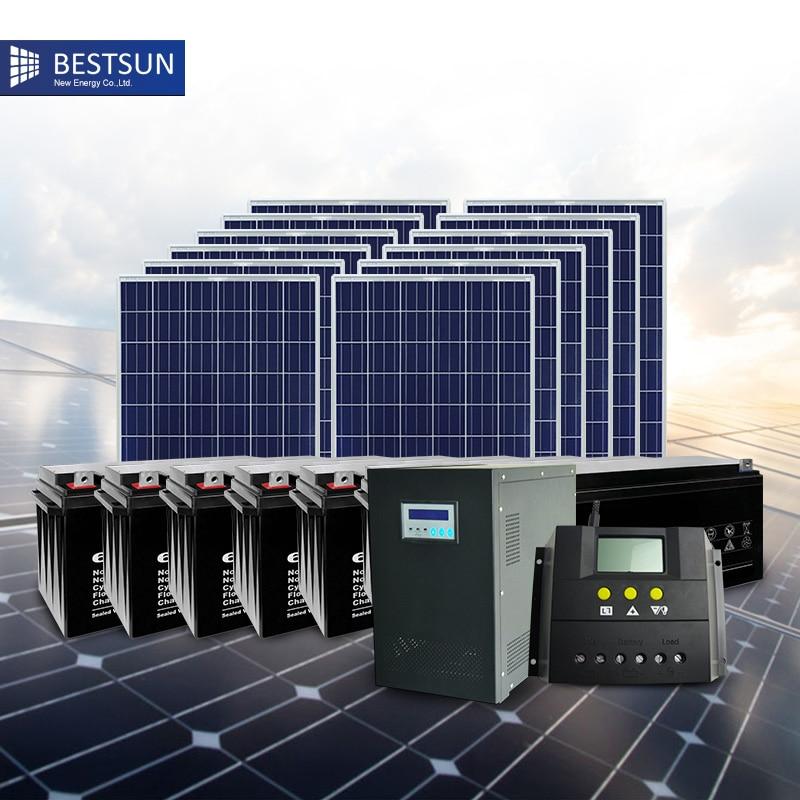 Solar Panel 5000w Pv Grid Connected Solar Energy Power