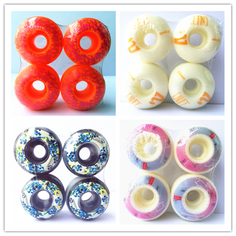 4pcs/Set USA SKATEBOARD WHEELS 50-54mm Skateboard Wheels Element Wheels For Double Rocker Deck PU Ruedas Patines Plastic Rodas