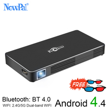 3D DLP Projector NewPal 2000Lumen WIFI Pico  Projector 1GB RAM+8GB ROM Android4.4Home Game Video Projector