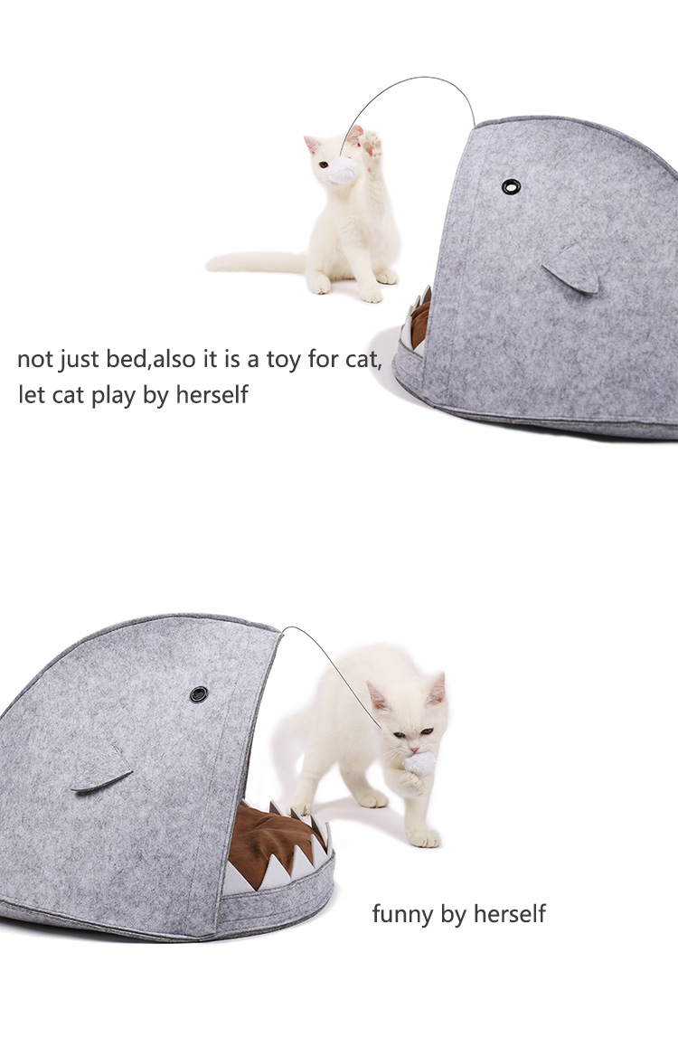 New Style Cat House Shark Shape Dog Beds Warm Soft Cat House Pet Sleeping Bag Cat Kennel Beds For Cat House Nest Mat Pet Product 9