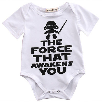 Newborn Star Wars Baby Boys Girls  Clothes Cotton Letter Short Sleeve  Romper Playsuit Sunsuit Outfits 0-18 Months star wars boys black