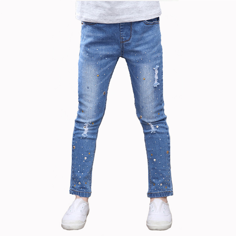 New Style Girls Hole Jeans Kids Jeans Girls Trousers Autumn Fashion - Children's Clothing - Photo 1