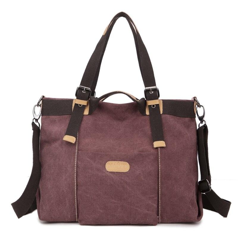 5847f69b3 Alta qualidade das Senhoras Das mulheres Ocasional saco de lona bolsa Saco  Do Mensageiro Do ombro big bag multifuncional sacola da Marca das mulheres  ...
