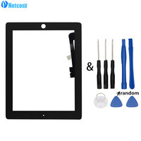 Netcosy Tablet Touch Panel For IPad 3 A1416 A1430 A1403 Black White Touch Screen Digitizer Panel