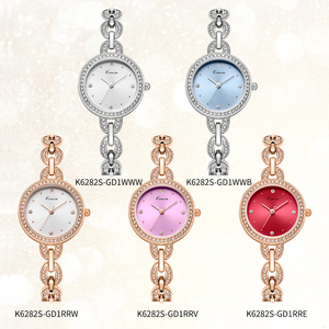 Image 5 - Kimio marca pequena dial feminino pulseira relógio 2018 luxo diamante quartzo relógios senhoras vestido de cristal relógio de pulso reloj mujer