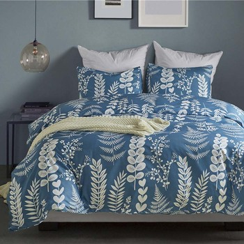 Brown And Blue Bedding | Flowers Europe Style Double Bedding Set Light Blue And Brown Bed Cover Quilt Jacquard Duvet Cover