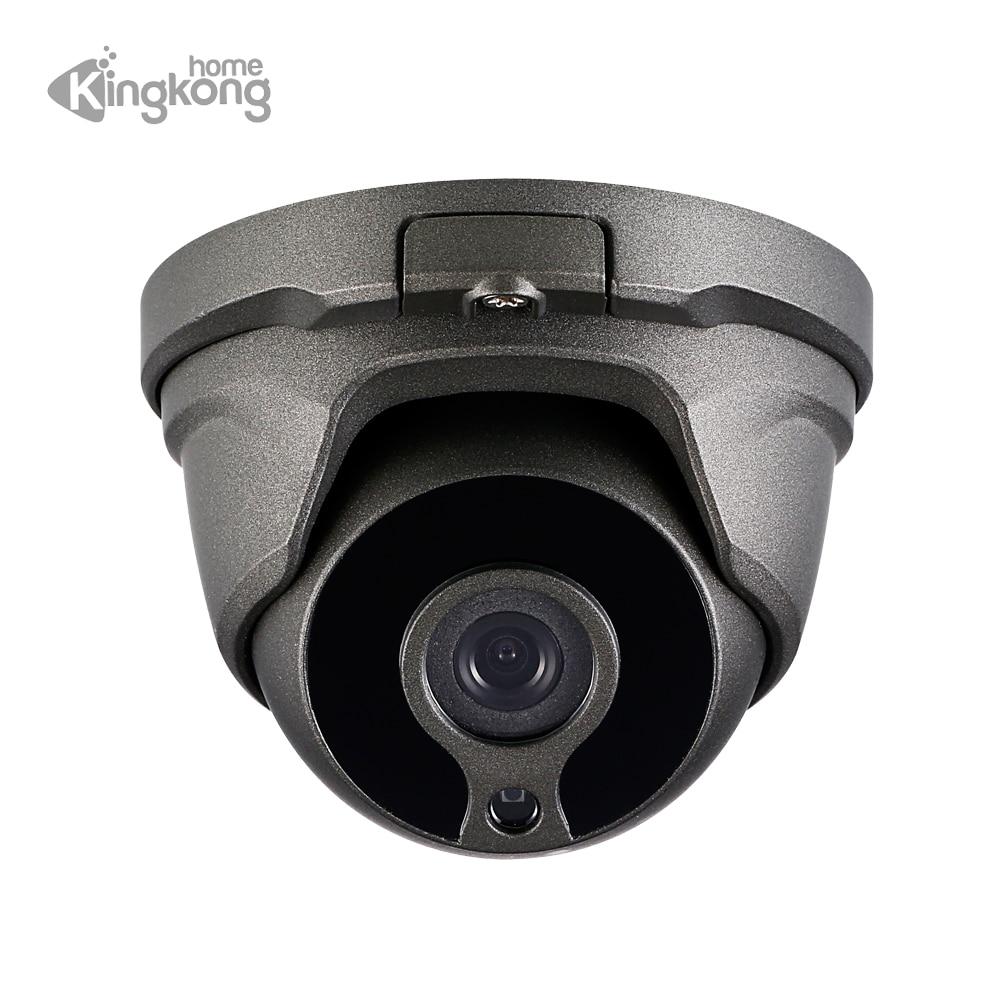 Kingkonghome 2,8mm 1080 p cámara IP poe al aire libre de detección de movimiento de seguridad de onvif de vigilancia CCTV cubierta de metal Dome ip cam 2mp