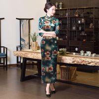 Fashion Chinese Style Women S Long Cheongsam New Arrival Velour Dress Elegant Qipao Vestidos Size S