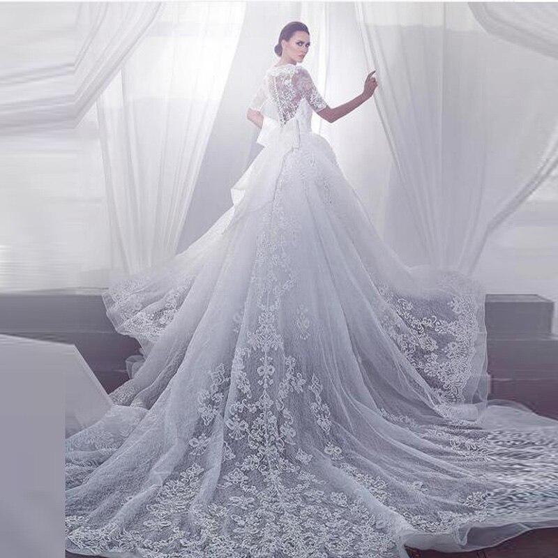 Luxury dubai 2016 lace wedding dresses lebanon flus size for Wedding dresses in dubai prices