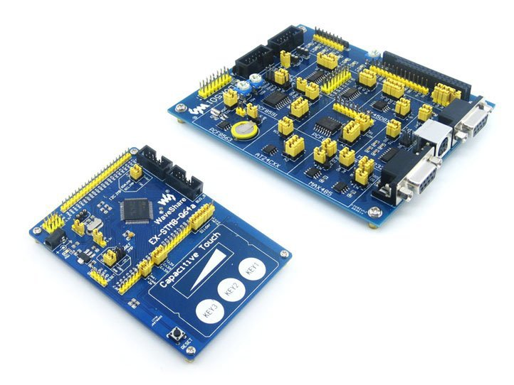 ФОТО STM8 Board STM8S207R STM8S207 STM8S STM8 Development Board + DVK501 Module Kits = EX-STM8-Q64a-207 Premium