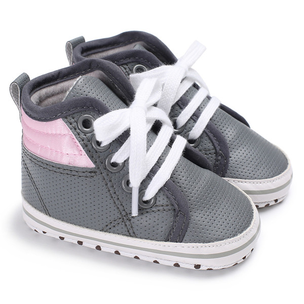 Branded Baby Shoes Boy Girl High Top Shoe Infant Newborn Soft Casual  Leather Shoes Children Booties Bebe Sapatos Sport Sneakers-in First Walkers  from Mother ... 68396dd5e