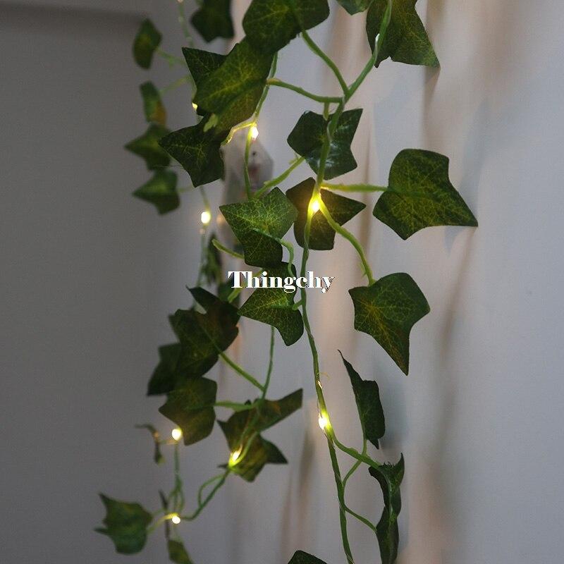 ivy folha garland luzes de fadas 2 m 02