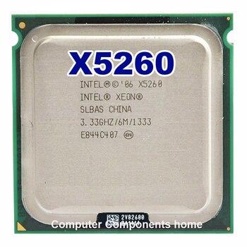 X5260 processor CPU 3.33GHz 6MB L2 Dual-Core work on 775 motherboard INTEL xeon