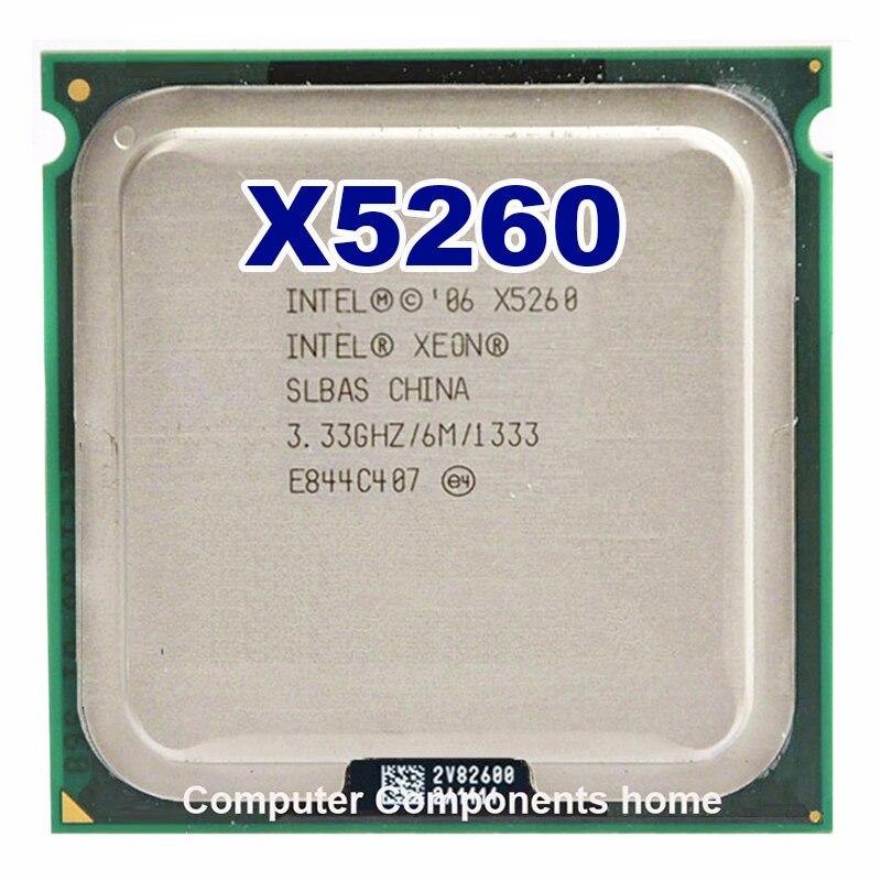 X5260 Processor CPU 3.33GHz 6MB L2 Dual-Core Work On 775 Motherboard Wtih 2 Adapter INTEL Xeon