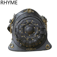 RHYME Hot Fashion Steampunk Exclusive Retro Rock Bags Gothic Bags Packs Shoulder Bag Men Women Leg Leatherwaist Bolso