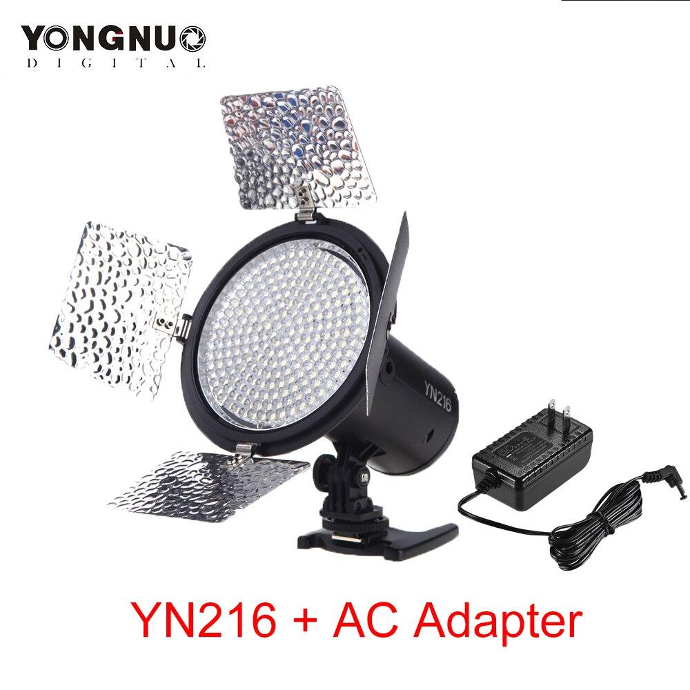 Yongnuo YN 216 YN216 LED Studio Video Light Photography Light W 4 Color Charts AC Adapter