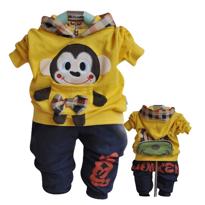 Anlencool  Free shipping infants Valley cotton hooded sweater children clothing spring models monkey baby clothing