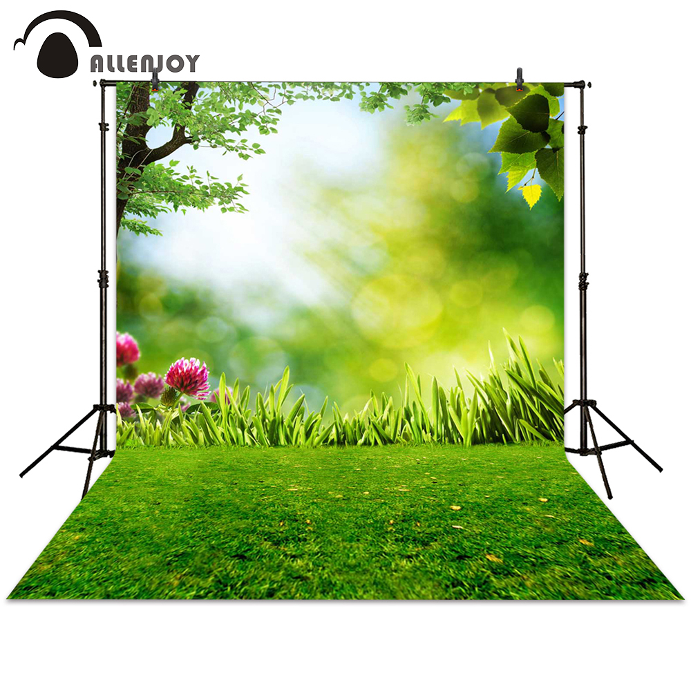 Allenjoy photography backdrop spring grassland flower sunshine bokeh background photocall photographic photo studio newborn allenjoy photography background blue red abstract christmas background golden stars glitter bokeh lights backdrop photo studio