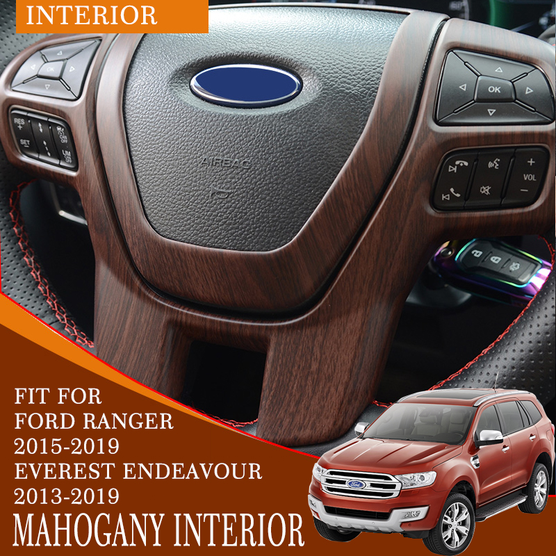 Interior decoration endeavour car accessories high quality ABS plastic mahogany decorate interior for ford everest 2013-2019