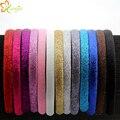 13colors 60pcs/lot Glitter Girls Hair Clasp Headband For Women Satin Plastic Non-slip Glitter Hair Band Hair Band Head Hoop